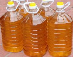 병에 있는 세련된 해바라기 기름