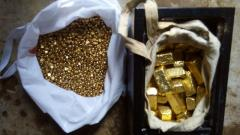 Gold bars,nuggets,gold dust and diamonds