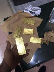 Gold dore bars, diamond and coppers